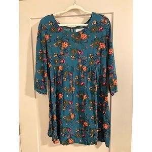 Old Navy blue floral baby doll dress